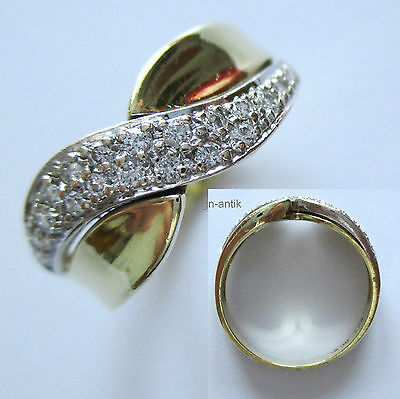 265 - Aparter Ring - Gold 585 - 19 Brillanten -636/442-