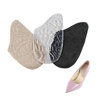 2 Pairs Soft Gel Anti Slip Hind foot Shoe Pad For High Heels Pain Relief Massage