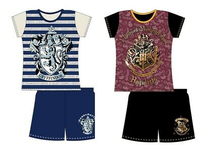 Girls Kids Harry Potter Shorts Pyjamas Summer PJs Hogwarts Gryffindor Nightwear