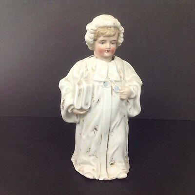 Large Continental Victorian Bisque Nodding Head Figure Of A Judge Novelty
