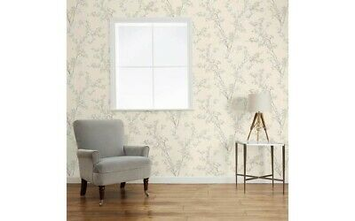 2 Rolls Of Laura Ashley Forsythia Natural Floral Wallpaper Brand New W099937-A/1