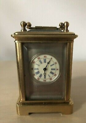 miniature carriage clock With Sevres Style Porcelain Panels