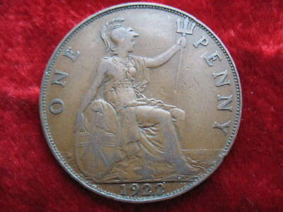 1922 English Large Penny, SCARCE TOUGH DATE TO FIND! NICE COIN! George the V!