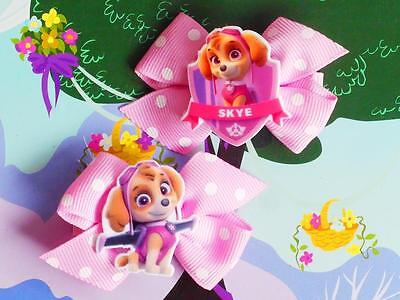 Paw Patrol Skye Fly Sky Pup Dog Puppy Inspired Handmade Toy Costume Hair Clip