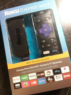 Roku Express Streaming Media Player 3900R, New In Box