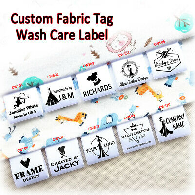 Handmade Fabric Labels Tags Washable DIY Clothes Sewing Patch 120pcs 2.4*1.2Inch
