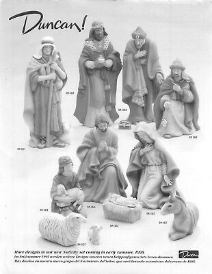 Duncan Assorted Nativity Pieces Technique Sheet in Black & White