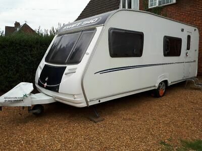 Sterling Europa 540 Touring Caravan / 2007 / 6 Berth / With 2 x Awnings