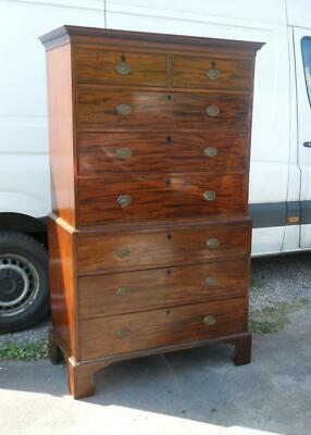 A Georgian Mahogany Chest On Chest Tallboy 8 Drawers Local Delivery Available