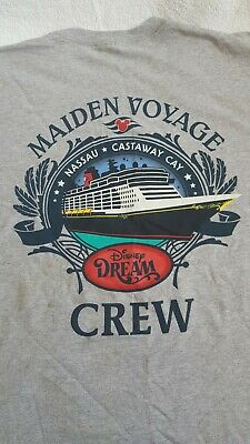Disney Dream Maiden Cruise Crew Shirt Size L Never Worn With Tag