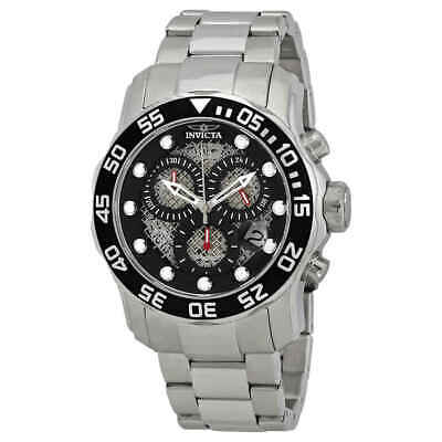 Invicta Pro Diver Chronograph Black Dial Men's Watch 19836