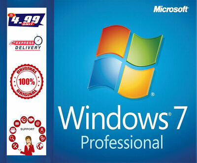 Windows 7 Professional Lifetime License 32/64 Key Activation - Instant Delivery