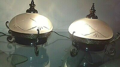 Coppia abat-jour antiche - Couple vintage table lamp