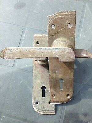 Art Deco reclaimed door handles very nice unusual