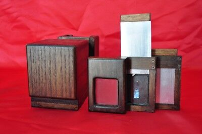 Small Wooden Camera 5x6,5 cm GemType +2 plate holders X Wet Plate Collodion Lens