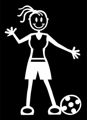 MY STICK FIGURE FAMILY Car Window Bumper Vinyl Decal Stickers F4 Female Football