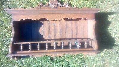 Pair of Vintage Wooden Ornate Small Shelf Units