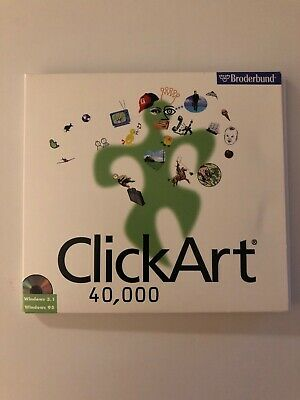 *RARE* Clipart 40,000 Broderbund 3 CD's 1997 Windows