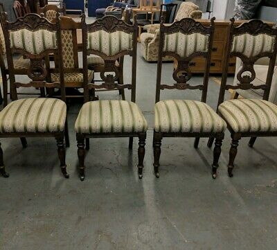 A Lovely Set Of 4 Edwardian Dining Chairs