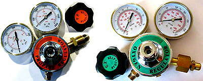 Propane (or Acetylene) & Oxygen Regulator Set, 3 inch gauges - Torch Welding