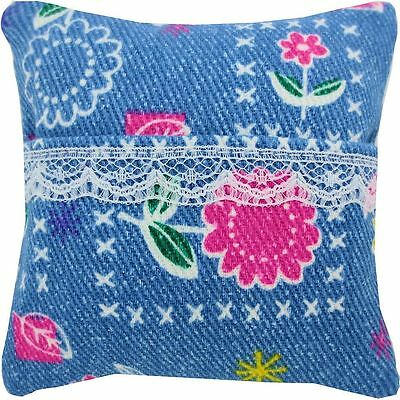 Tooth Fairy Pillow, light blue, star & heart print, white lace trim for girls