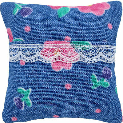 Tooth Fairy Pillow, light blue, floral print fabric, white lace trim for girls