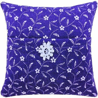 Tooth Fairy Pillow, purple, flower print fabric, white lace flower trim for girl