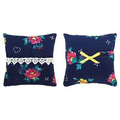 Tooth Fairy Pillow, navy blue, floral & heart print, choice of trim for girls
