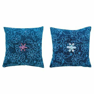 Tooth Fairy Pillow, turquoise, flower print fabric, choice of trim for girls