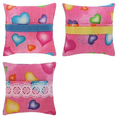 Tooth Fairy Pillow, pink, colored heart print fabric, choice of trim for girls