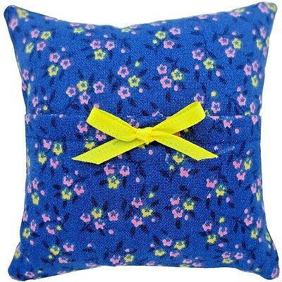 Tooth Fairy Pillow, blue, flower print fabric, yellow ribbon bow trim for girls