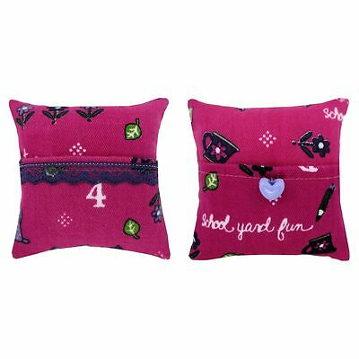 Tooth Fairy Pillow, pink, school & number print fabric, choice of trim for girls