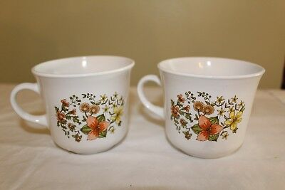Set of 2 Vintage Corelle by Corning Indian Summer Coffee/Tea Cups/Mugs