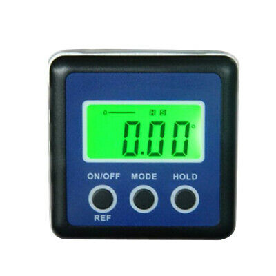 Digital Magnetic Angle Gauge Cube/Protractor/Bevel Box/ Inclinometer Blue
