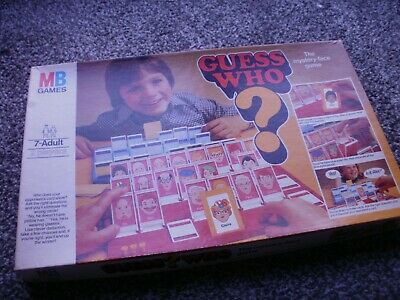 """Vintage """"GUESS WHO"""" The Mystery Face Game by MB games 1979 - Complete."""