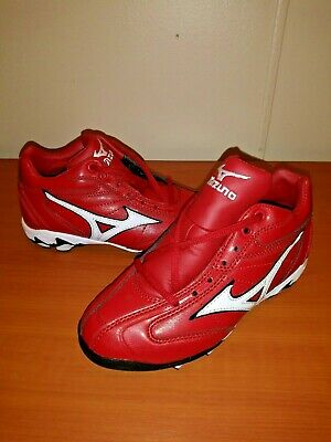 060e8f6311e NWOT Mizuno Youth 9-Spike Advanced Franchise 8 mid Molded Cleats- Red White