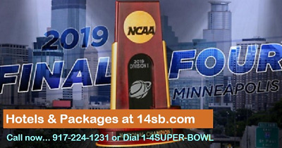 2019 NCAA FINAL FOUR STADIUM DOWNTOWN HOTEL & FanFestTickets - 4****, 4 NIGHTS