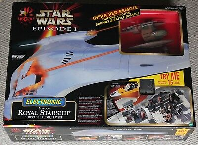 Star Wars Episode 1 Electronic Royal Starship Blockade Cruiser Naboo Playset