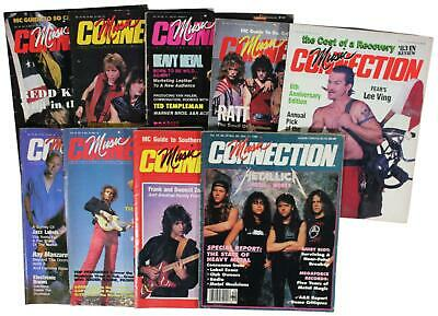 LOT Of 9 VTG 80s MUSIC CONNECTION MAGAZINES Metallica Fear Ratt Frank Zappa Etc