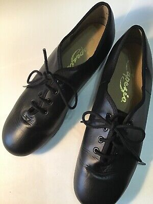 THEATRICAL DANCE SHOES JT52W WHITE LEATHER NO TAPS LACE UP OXFORDS NEW