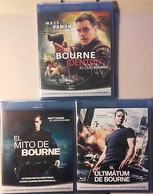 Caso Bourne Identity Mito Supremacy Ultimatum Bluray Blu-Ray Matt Damon Nuevas