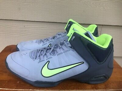 4e36bde4ddb4 Nike Air Visi Pro IV Men s HI TOP Basketball Shoes Gray Lime Size 11