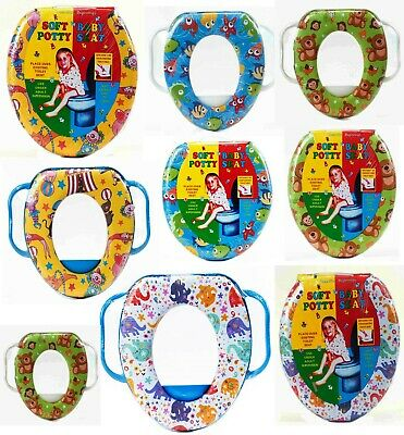 Kids Children Printed Soft Padded Baby Toddler Potty Training Toilet Seat Handle