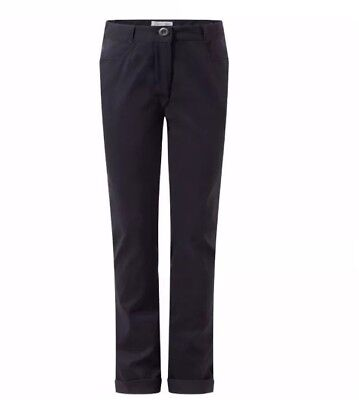 Girls Craghoppers Dark Navy Trousers Age 3-4 Years New With Tags