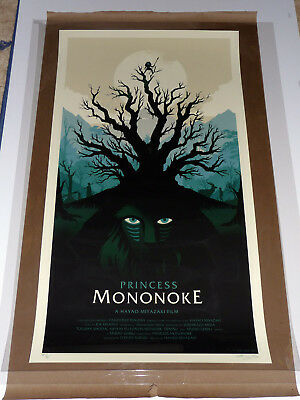 Princess Mononoke - Artist Proof by Olly Moss - Rare sold out Mondo Poster
