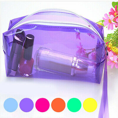 Zipper Cosmetic Various Color Pouch Stationery Storage Pencil Clear
