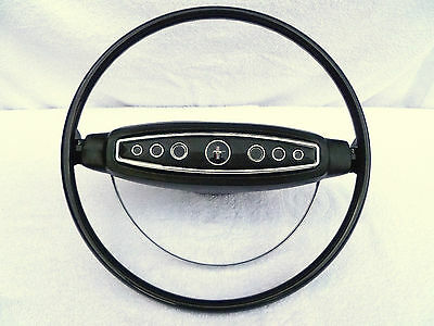 1968 Ford Mustang Standard Black Steering Wheel,68 Restored Complete Ready To On