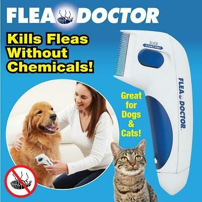 """Flea Doctor Electric Pet Comb Easy To Use No Chemicals 6 1/2""""L"""