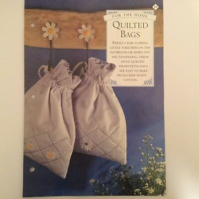 Needlework pattern: Hand quilted drawstring bag instructions