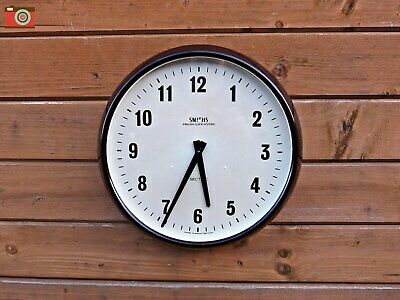 Vintage Retro Smiths Wall Clock, Bakelite. Restored & Updated! Lovely Condition